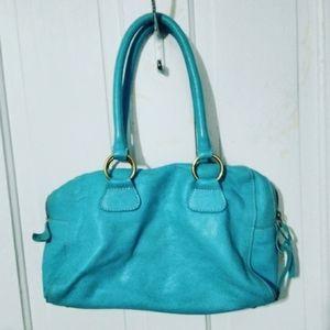 Boden Blue Leather Women Shoulder Purse Hand Bag